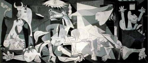 毕加索采用分解立体构成法