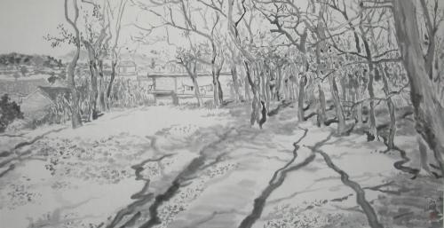 画画五年级风景画树林