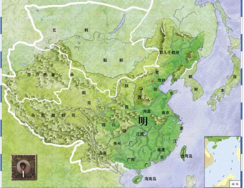 明朝疆域最大时地图