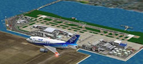 传说中的羽田机场(rjtt)俯视图