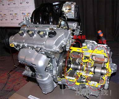 """发动机和电动机的动力""""实时""""的进行最佳组合(也有一说是混联式的组合"""
