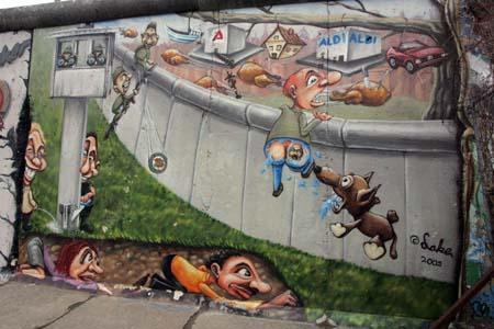 柏林墙经典漫画